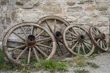 old wagon wheel Standard-Bild