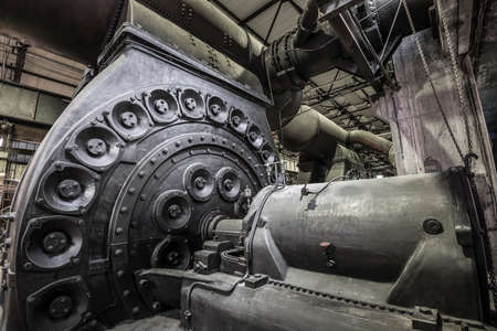 detail of a historic steam engine