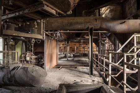 old abandoned blast furnace detail