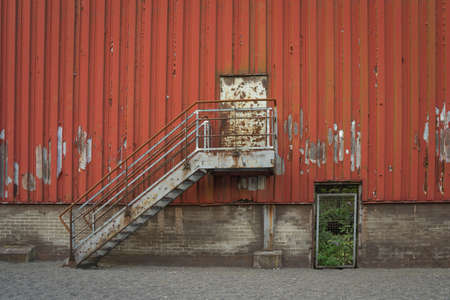 facade of an old industrial building