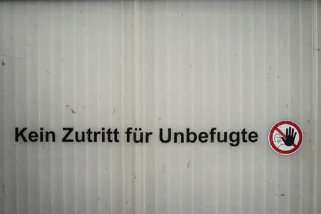 german staff only sign on a door