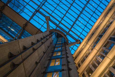 detail of a modern glass building