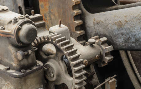gearing on a historic steam engine