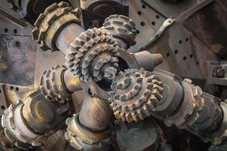 detail of a mining drill unit
