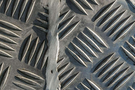 abstract detail of a metallic fence Standard-Bild