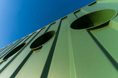 abstract view of a steel container facade Standard-Bild