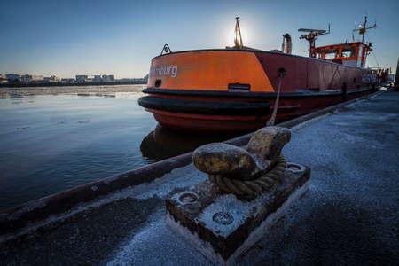 Historic ship in the harbor of Hamburg.