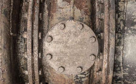 housing detail of a rusty machine Standard-Bild