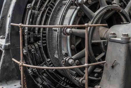 detail of an old electric engine