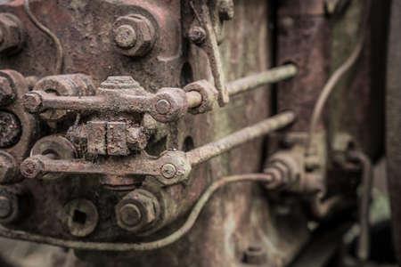 detail of a historic diesel engine Standard-Bild
