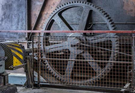 Machinery in a historic coal mine.
