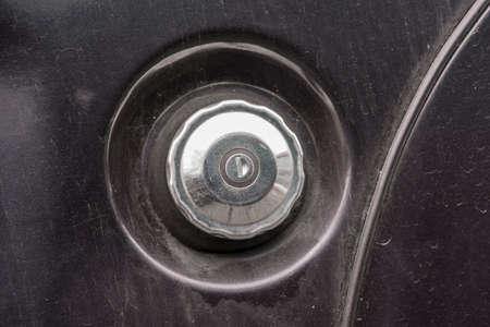 fuel tank of a classic car