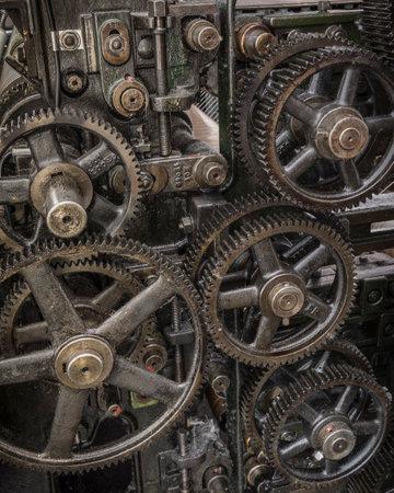 gearwheels of a historic machine