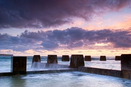 Dawn at a tidal pool in Coogee - a famous beach in eastern Sydney (it is near Bondi) photo