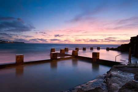 Dawn at a tidal pool in Coogee - a famous beach in eastern Sydney (it is near Bondi)