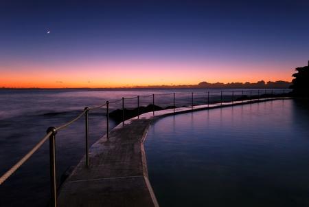 Dawn at a tidal pool in Bronte, a famour beach in eastern Sydney, Australia