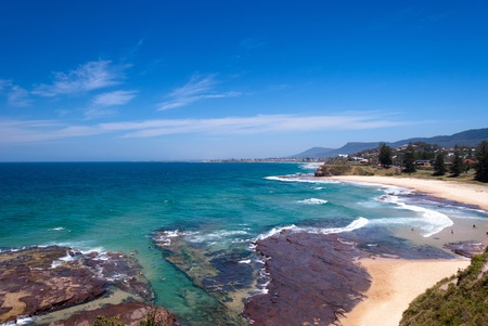 coastline: Wollongong beach coast, Southern Sydney, Australia.