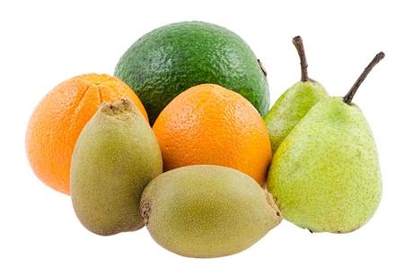 avocado, orange, gold kiwi, pears for healthy diet