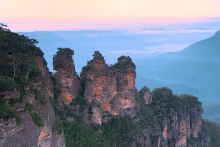 Three Sisters, Echo Points, Blue Mountains, Sydney, Australia at dawn