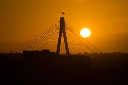 Sunset on Anzac Bridge, Sydney, Australia