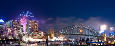 World Renown Sydney Harbour NYE Fireworks Display Panorama photo