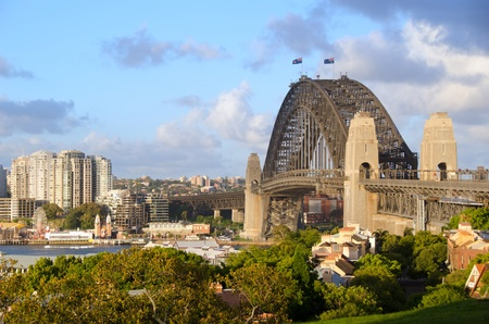 Sydney Harbour Bridge viewed from Observatory Hill Stock Photo
