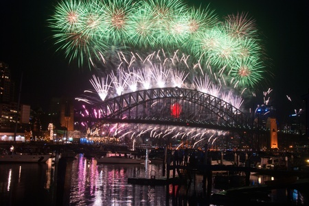 World Renown Sydney Harbour NYE Fireworks Display Stock Photo - 12042811