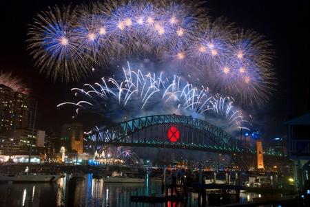 ports: Mondo Renown Sydney Harbour NYE Fireworks Display Archivio Fotografico