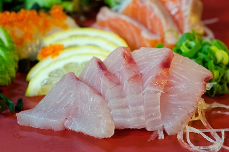 A dish of assorted sashimi - Japanese food Stock Photo