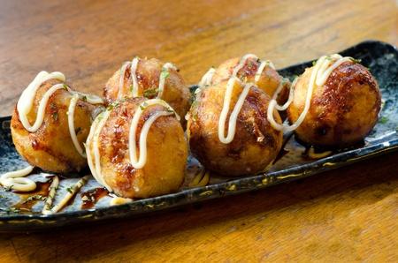 Takoyaki octopus balls - Japanese food Stockfoto