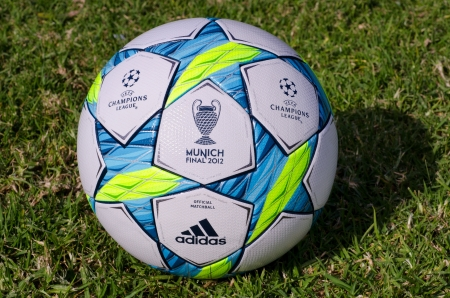 played: This is the office ball played in the final match between Bayern Munich and Chelsea Editorial