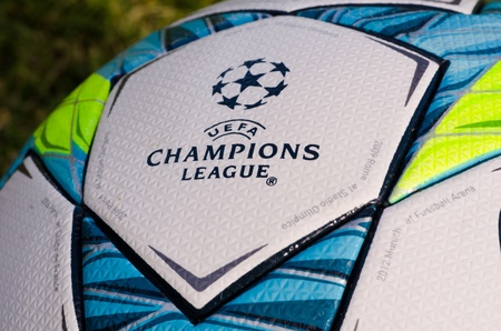 This is the office ball played in the final match between Bayern Munich and Chelsea Editorial