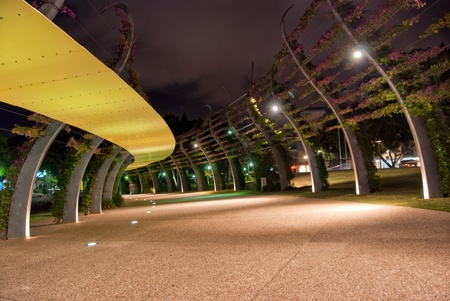 road surface: Brisbane City - Southbank footpath at night - Queensland - Australia