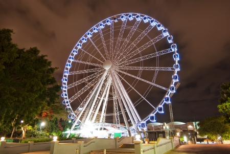 Brisbane City - Southbank carousel at night - Queensland - Australia