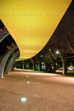 Brisbane City - Southbank footpath at night - Queensland - Australia