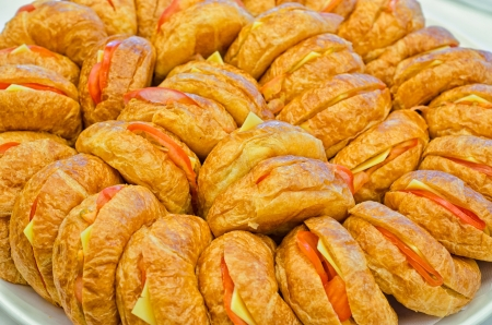 A plate of veggie croissants for catering events  photo