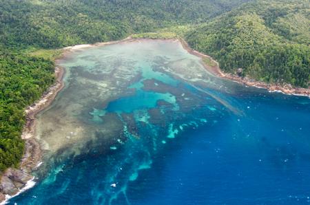 Great Barrier Reef - Vue aérienne - Whitsundays, Queensland, Australie Banque d'images - 49191612