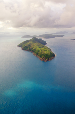 Whitsundays Great Barrier Reef - Aerial View - Whitsundays, Queensland, Australia