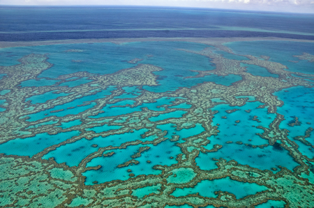 Great Barrier Reef - Aerial View - Whitsundays, Queensland, Australia
