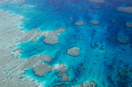 reef: Great Barrier Reef - Aerial View - Whitsundays, Queensland, Australia