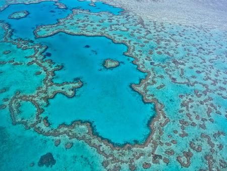 Grande barriera corallina - Veduta aerea - Whitsundays, Queensland, Australia Archivio Fotografico - 49171062