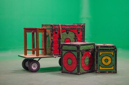 Green screen circus - boxes only Reklamní fotografie