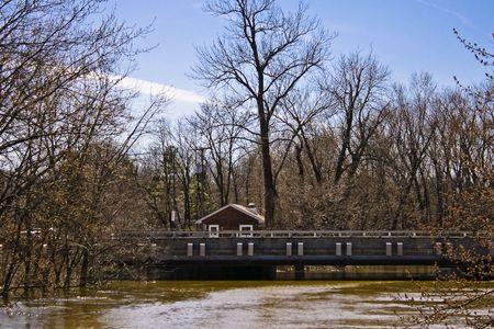 Bridge with High Water Stock fotó