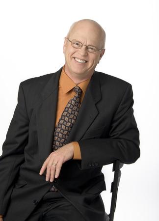 waistup: Waist-up photo of mature businessman on white background.