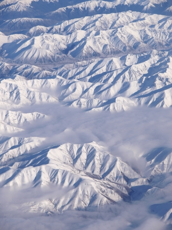 icecaps: View from above of the New Zealand