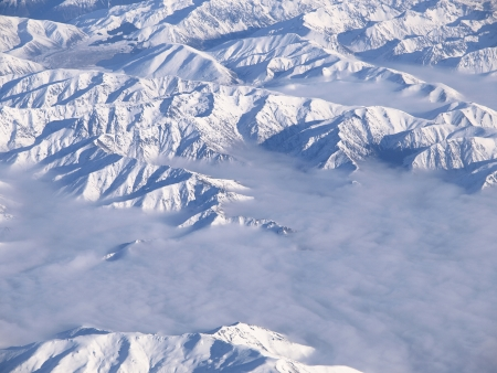icecaps: View from the sky over New Zealand