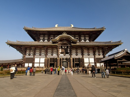todaiji: Main Hall of Todaiji Temple in Nara, Japan. The worlds largest wooden building and world heritage site.
