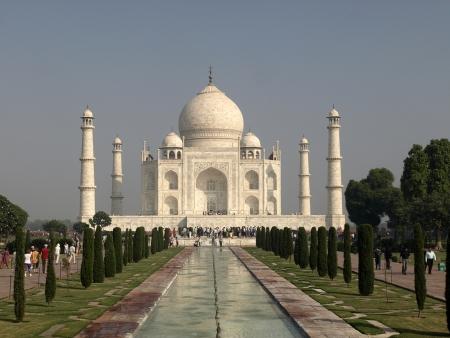 Taj Mahal seen from the entrance photo