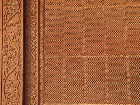 Details of sandstone carving at Fatehpur Sikri, Agra, Uttar Pradesh, India photo