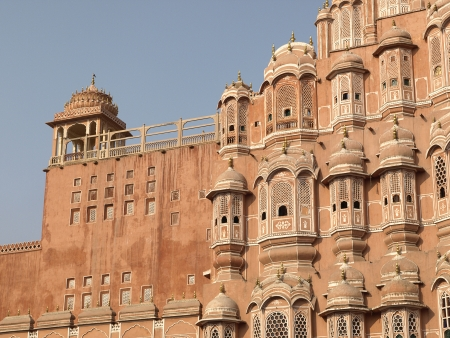 polygamy: South tower of Hawa Mahal or The Wind Palace in Jaipur, Rajasthan, India